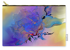 Carry-all Pouch featuring the painting Purple Passion Peony by Hanne Lore Koehler