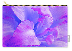 Purple Petals Abstract Carry-all Pouch by Gill Billington