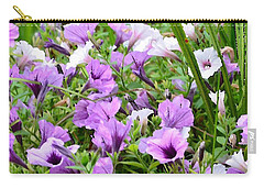 Purple Petunias Carry-all Pouch
