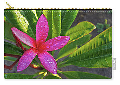 Purple Plumeria Carry-all Pouch