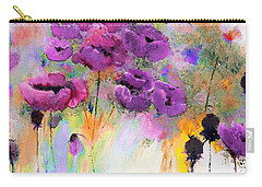 Purple Poppy Passion Painting Carry-all Pouch by Lisa Kaiser