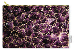 Purple Quartz  Amethyst Carry-all Pouch by LeeAnn McLaneGoetz McLaneGoetzStudioLLCcom