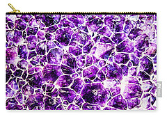 Carry-all Pouch featuring the photograph Purple Quartz by Greg Collins