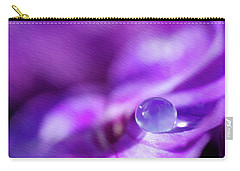 Purple Rain Drop Carry-all Pouch