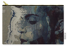 Carry-all Pouch featuring the mixed media Purple Rain - Prince by Paul Lovering