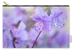 Carry-all Pouch featuring the photograph Purple Rhododendron 1. Spring Watercolors by Jenny Rainbow