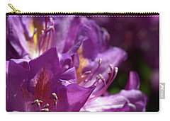 Purple Rhododendron Carry-all Pouch by Stephen Melia