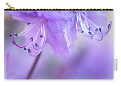 Carry-all Pouch featuring the photograph Purple Rhododendron. Spring Watercolors by Jenny Rainbow