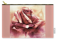 Purple Rose Carry-all Pouch by Sandra Phryce-Jones