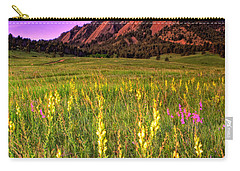 Purple Skies And Wildflowers Carry-all Pouch by Scott Mahon