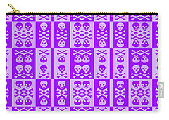Purple Skull And Crossbones Pattern Carry-all Pouch