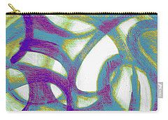 Carry-all Pouch featuring the mixed media Purple Soul by Lucia Sirna