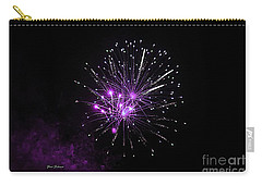 Purple Sparkle In The Sky Carry-all Pouch by Yumi Johnson