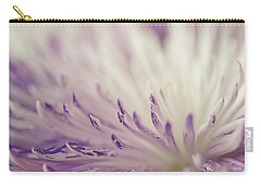 Purple Spider Mum Macro Carry-all Pouch