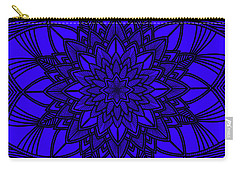 Carry-all Pouch featuring the digital art Purple Spiritual by Lucia Sirna