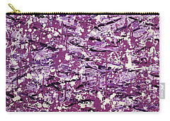 Purple Splatter Carry-all Pouch
