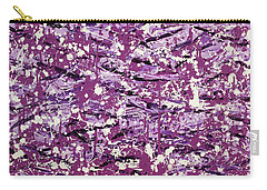 Carry-all Pouch featuring the painting Purple Splatter by Thomas Blood