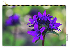 Carry-all Pouch featuring the photograph Purple Spring Flower by Cristina Stefan