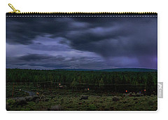 Carry-all Pouch featuring the photograph Purple Strikes by Cat Connor
