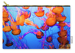 Purple Striped Jelly Fish I  Carry-all Pouch