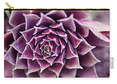 Purple Succulent Plant Blossom In Summer Carry-all Pouch by Jingjits Photography