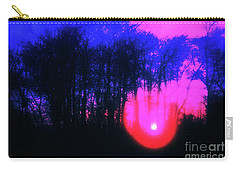 Carry-all Pouch featuring the photograph Purple Sunset by Craig J Satterlee