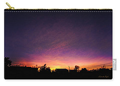 Purple Sunset Carry-all Pouch by Karen Slagle
