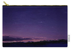 Purple Sunset Over Beach  Carry-all Pouch