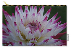 Purple Tipped Starburst Dahlia Carry-all Pouch