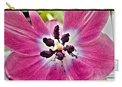 Purple Tulip Carry-all Pouch by Nina Ficur Feenan