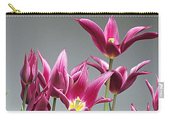 Purple Tulips Carry-all Pouch by Helen Northcott