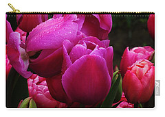 Purple Tulips In Rain Carry-all Pouch