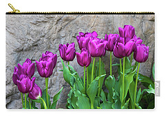 Carry-all Pouch featuring the photograph Purple Tulips by Tom Mc Nemar