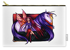 Purple Unicorn With Fairy Friend Carry-all Pouch