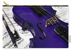 Purple Violin And Music V Carry-all Pouch