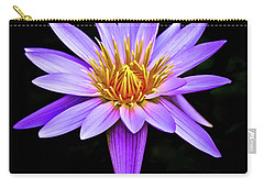 Purple Waterlily With Golden Heart Carry-all Pouch