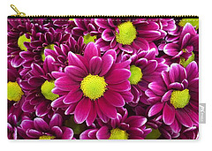 Purple Yellow Flowers Carry-all Pouch