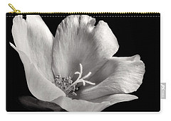 Carry-all Pouch featuring the photograph Purslane In Monochrome by David and Carol Kelly