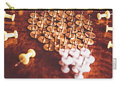 Pushpins And Thumbtacks Arranged As Light Bulb Carry-all Pouch