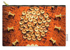 Pushpins Arranged In Light Bulb Icon Carry-all Pouch