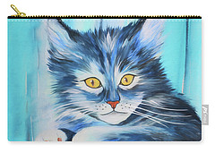 Carry-all Pouch featuring the painting Pussy Cat by Jutta Maria Pusl