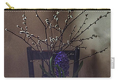 Pussy Willow And Hyacinth Still Life Carry-all Pouch