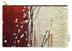 Pussy Willow Corner Carry-all Pouch by Joan  Minchak