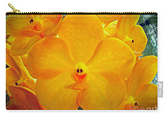 Put On A Happy Face Yellow Orchids Carry-all Pouch