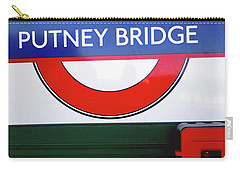 Carry-all Pouch featuring the photograph Putney Bridge by Rebecca Harman
