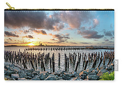Carry-all Pouch featuring the photograph Pylons Mill Sunset by Greg Nyquist