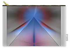 Carry-all Pouch featuring the digital art Pyramid by John Krakora