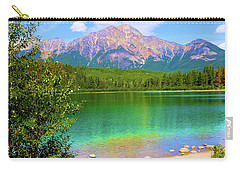Pyramid Mountain Over Teal Waters Carry-all Pouch