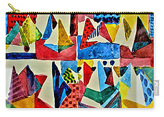 Carry-all Pouch featuring the digital art Pyramid Play by Mindy Newman