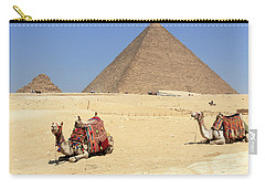 Carry-all Pouch featuring the photograph Pyramids Of Giza by Silvia Bruno